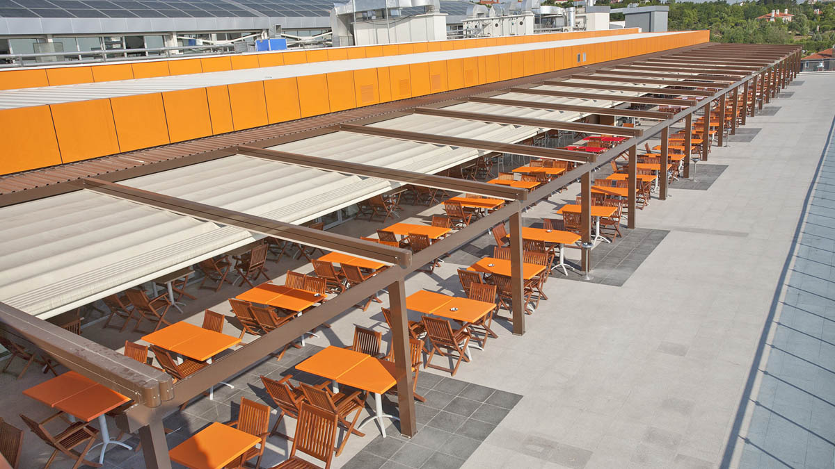 Retractable Fabric Roof Awning Systems