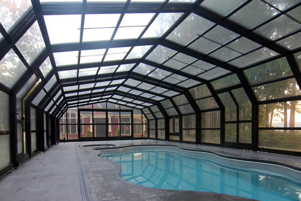Retractable Glass Skylights Free Standing