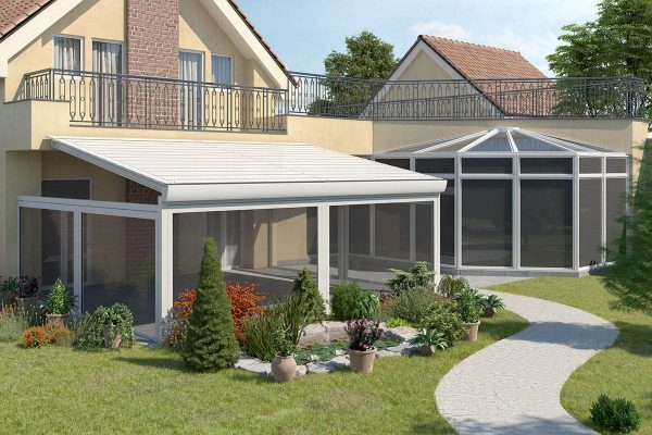 Retractable Louvre Roof System Pitched System