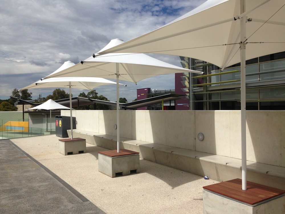 Parasols External Venetian Retractable Motorised Roof Pergola Awning London Commercial Architecture Outdoor